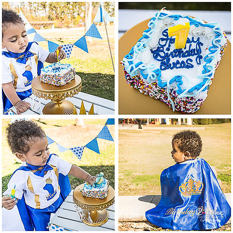 Lawrenceville Newborn Photographer - Lovelee Photography - Cake Smash Session