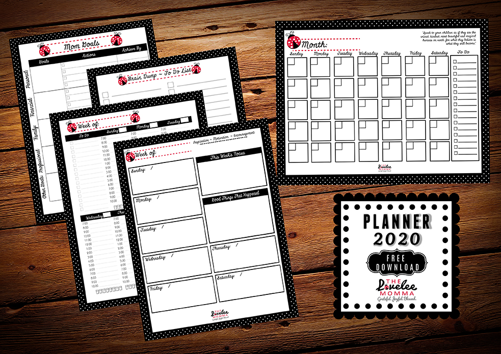 The Lovelee Momma 2020 Planner