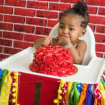 Lawrenceville Newborn Photographer - Lovelee Photography -Sesame Street Theme Cake Smash Session - Client's Home