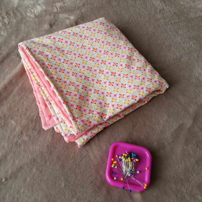 How to Make a Baby Blanket (using minky)