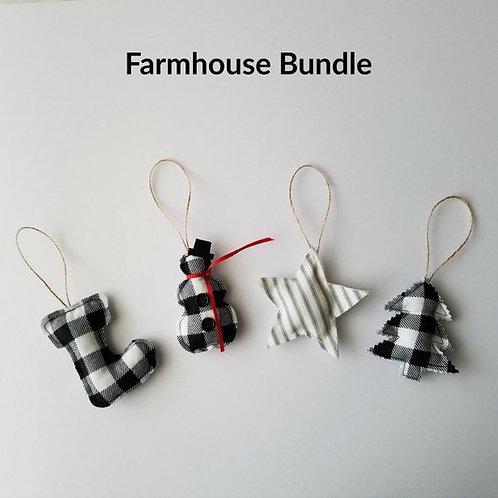 Farmhouse Christmas Ornaments Bundle