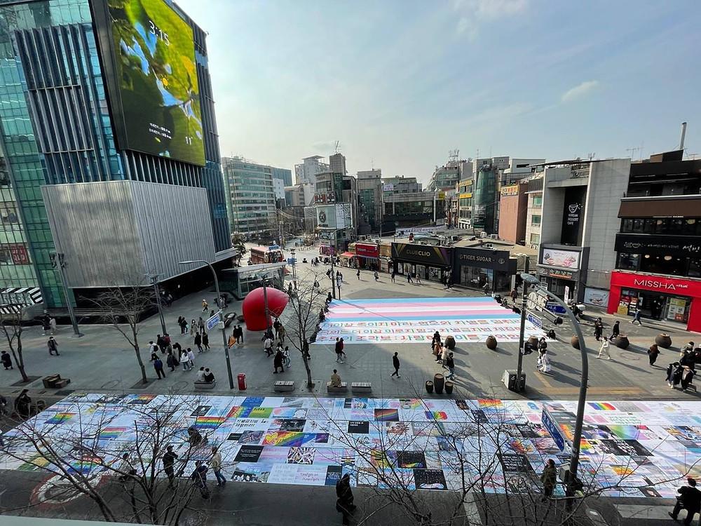 Memorial Quilt in Seoul for Korean Transgender Activists