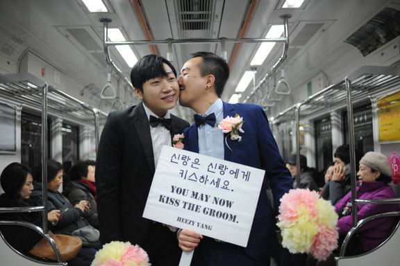 You May Now Kiss The Groom Same Sex Wedding Performance by Korean Queer Artist Heezy Yang