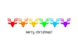 Rainbow Reindeer by Heezy Yang