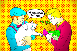 Cat And Veggie Lovers by Heezy Yang