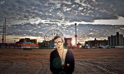 Coney Island (Self-Portrait) by Heezy Yang