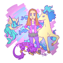 Customised Pokemon Trainer Caricature by Heezy Yang