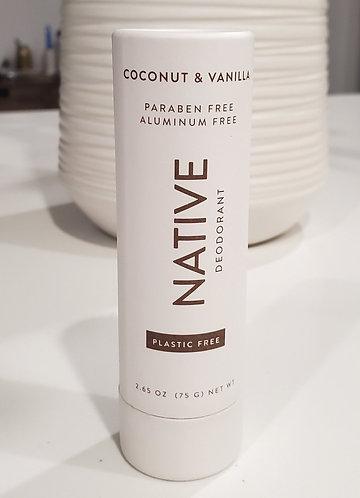 NATIVE plastic free deodorant stick - coconut vanilla