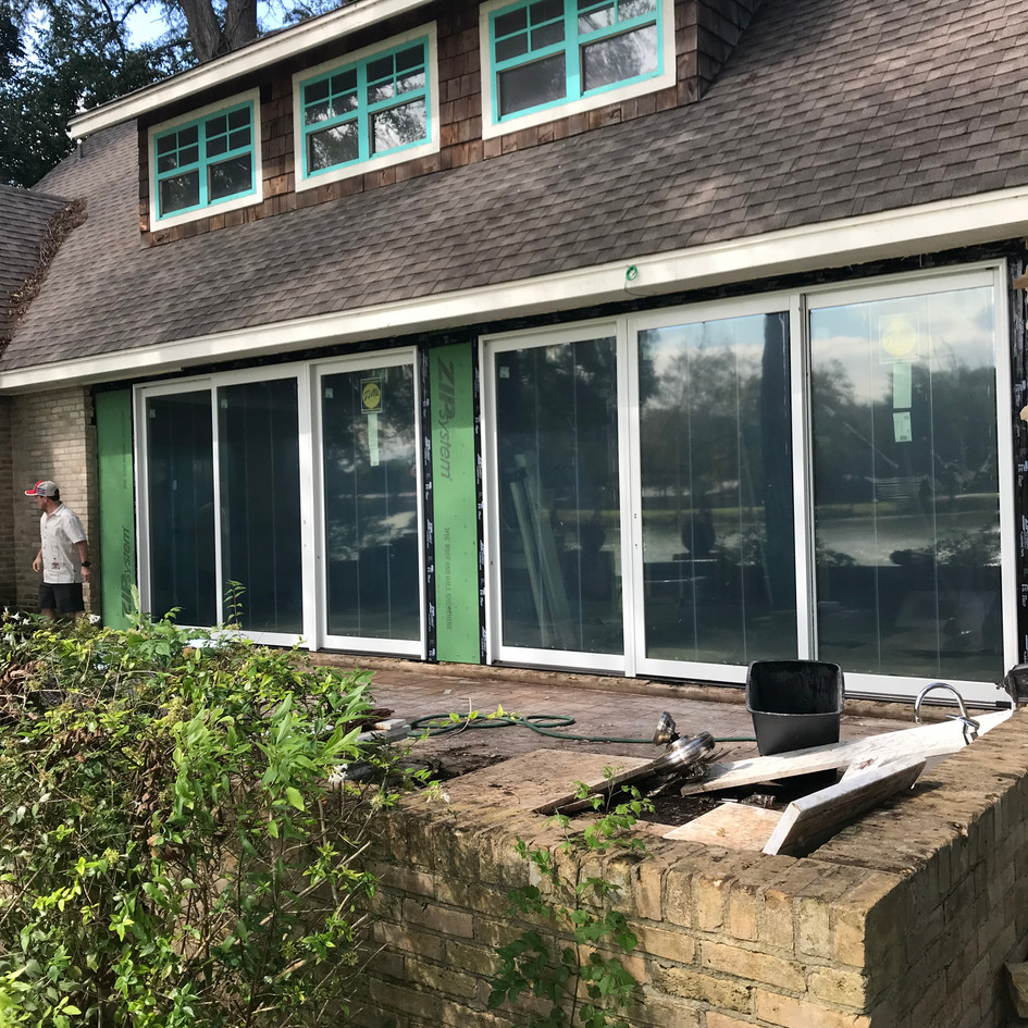 Replaceing back sliding doors