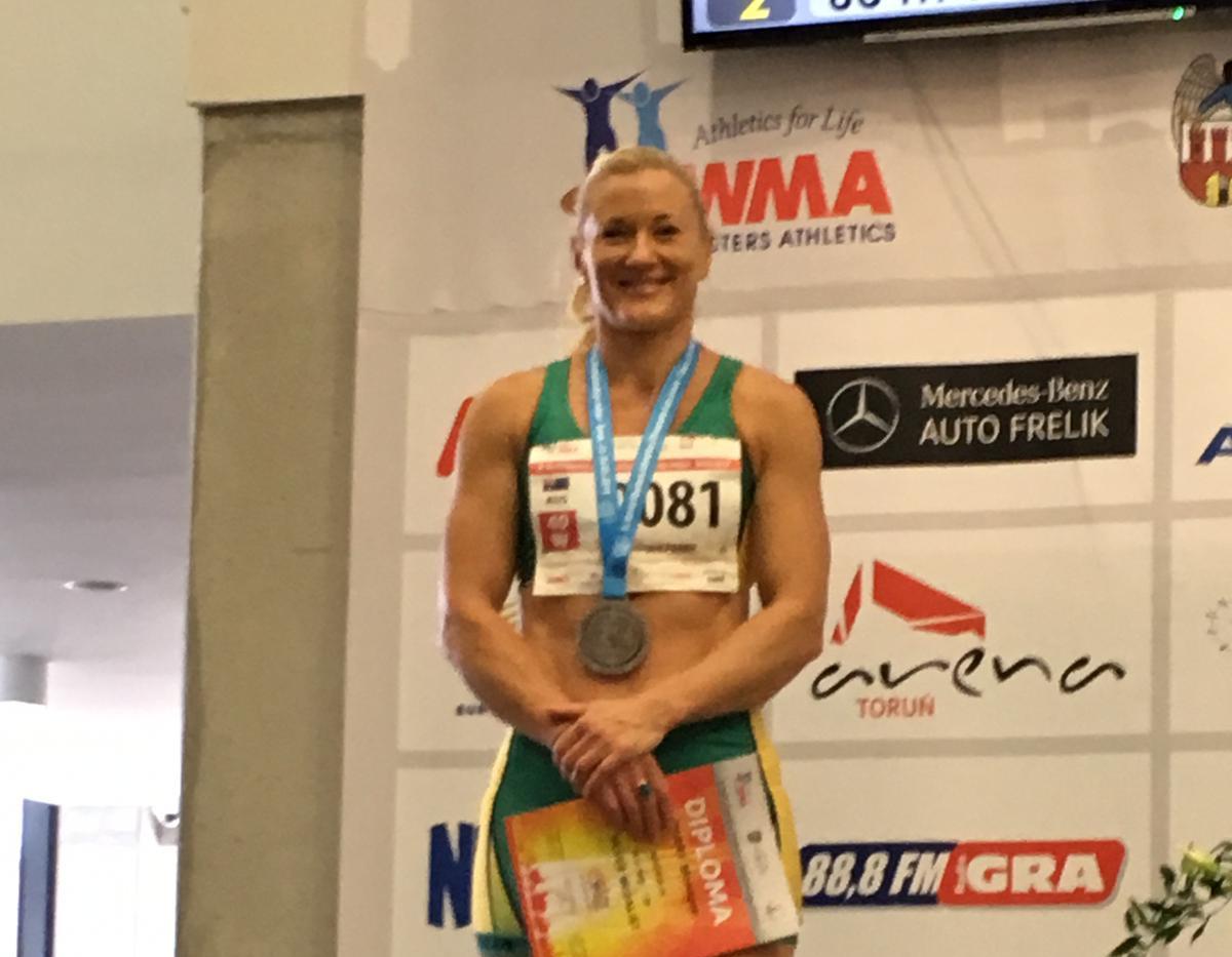Monique Perry Silver medal 60m