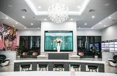 Our beautiful salon waiting to service you