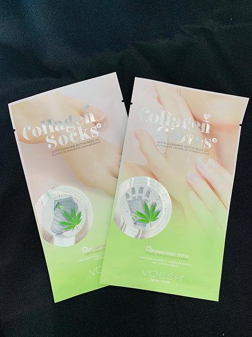 Bundle Pack: Collagen Socks + Gloves w/Hemp Oil