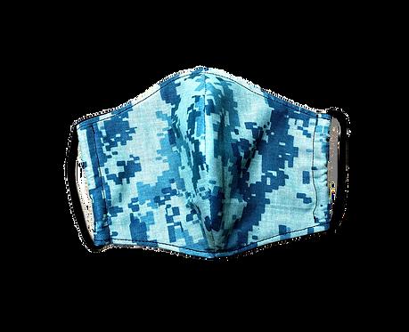 Handmade adult mask, Digital Camouflage