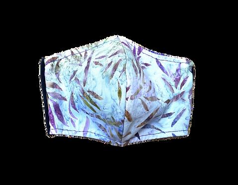 Handmade adult masks - Purple bamboos