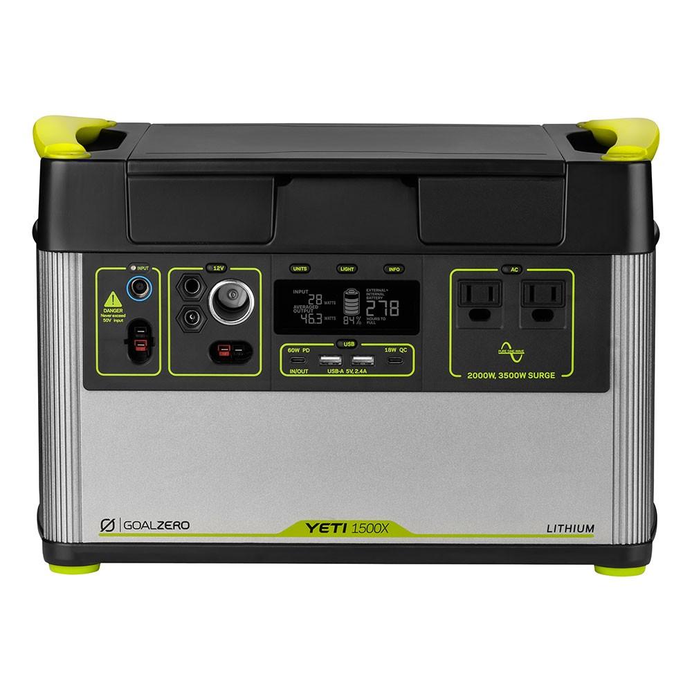 Goal Zero Yeti 1500X portable power stat
