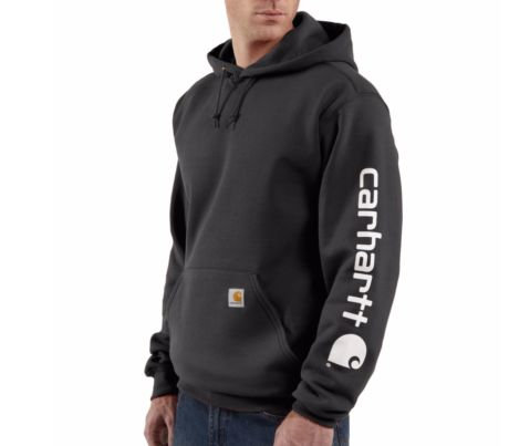 Signature Midweight Sleeve Logo Sweatshirt with Hood K288