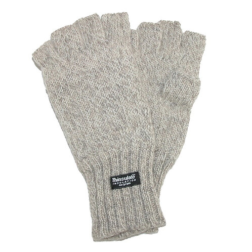 Dorfman Pacific Wool Fingerless Gloves with Thinsulate