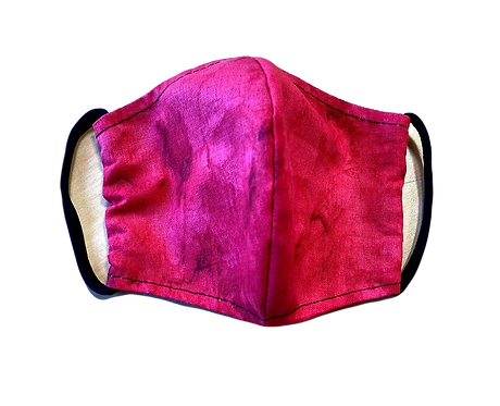 Handmade adult mask, red