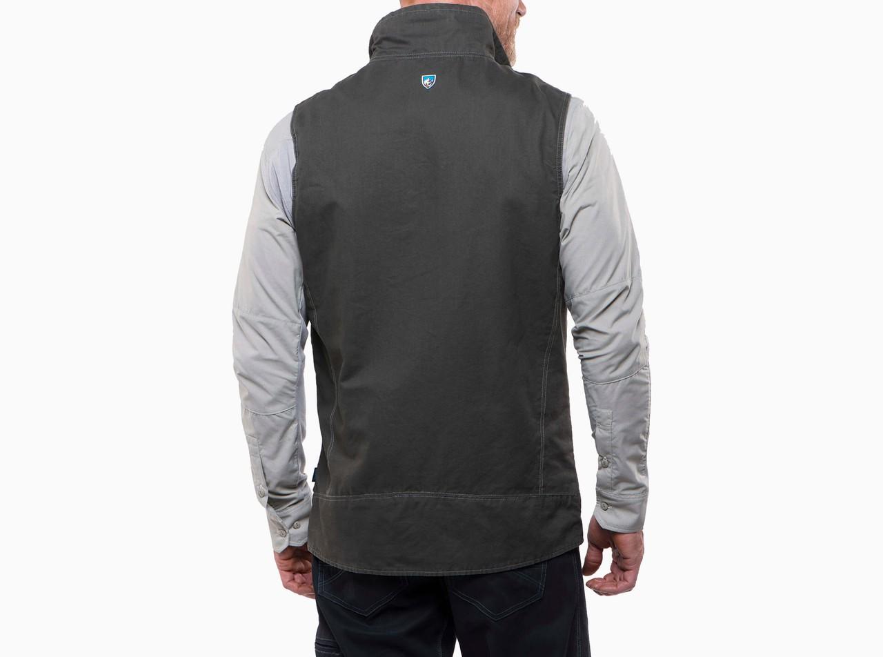 burr vest gunmetal back
