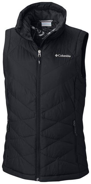 Columbia heavenly vest black wmn