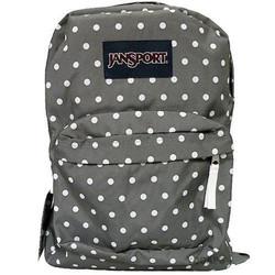Jansport superbreak grey polka dot