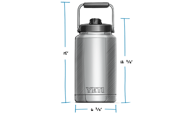 yeti one gallon jug specs