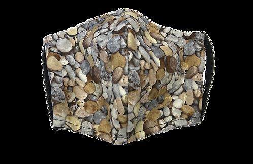 Handmade adult mask - rocks