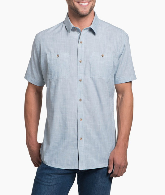 Kuhl Karib Short Sleeve Shirt, Horizonn, Blue