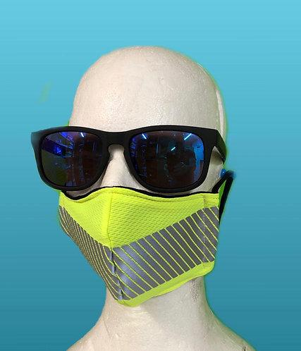 Adult handmade mask, Hi Vis
