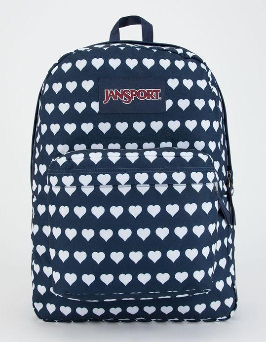 Jansport superbreak heart print