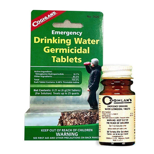Coghlan's Drinking Water treatment tablets ( 50 germicidal tablets)