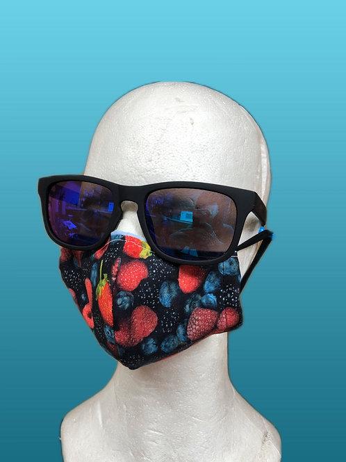 Handmade adult mask, berries