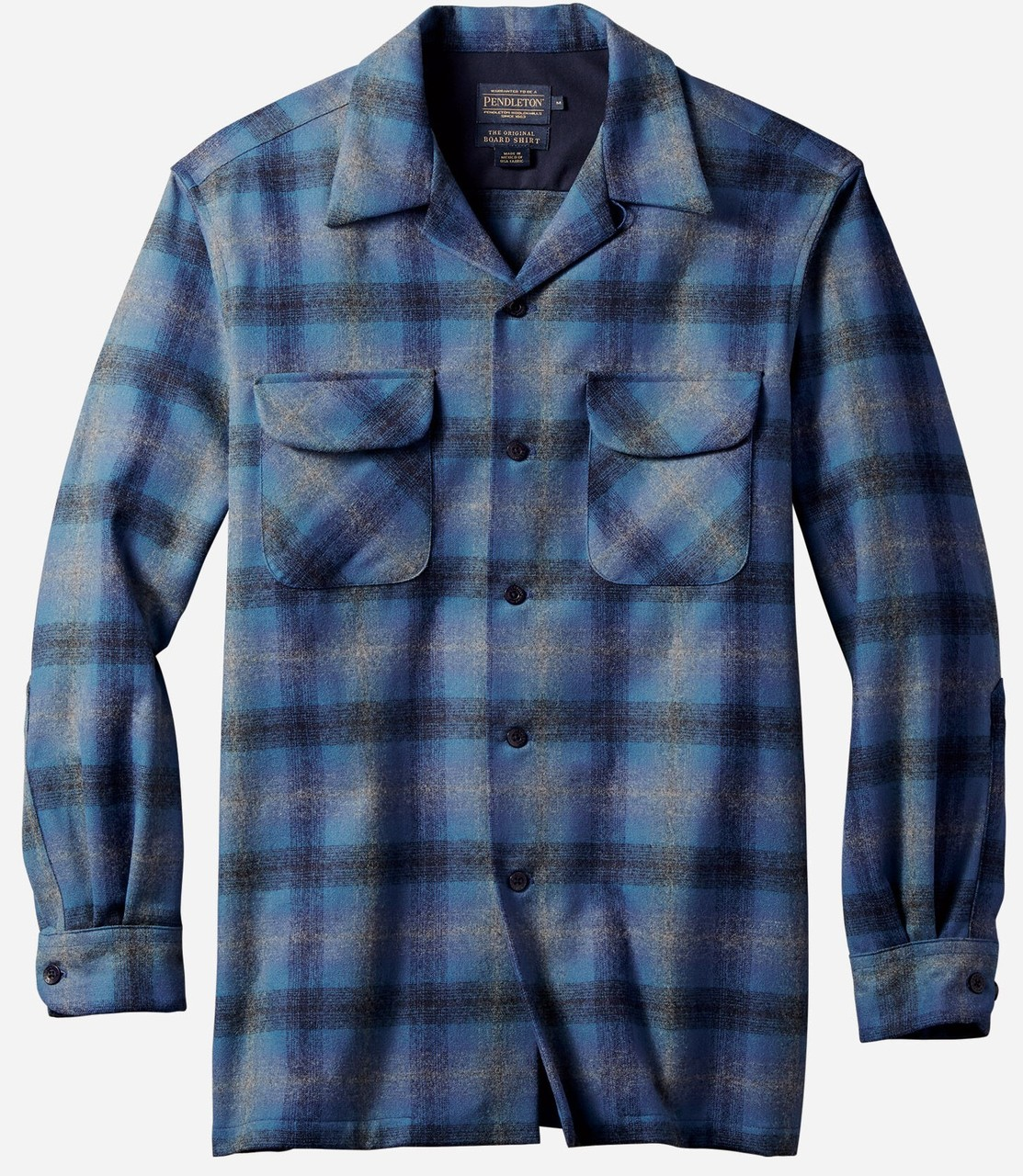 Pendleton board shirt blue ombre