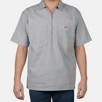 Ben Davis Short Sleeve Stripe 1/2 Zip Shirt
