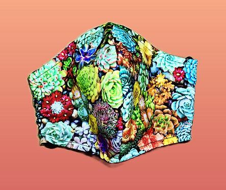 Handmade Adult mask, flower power