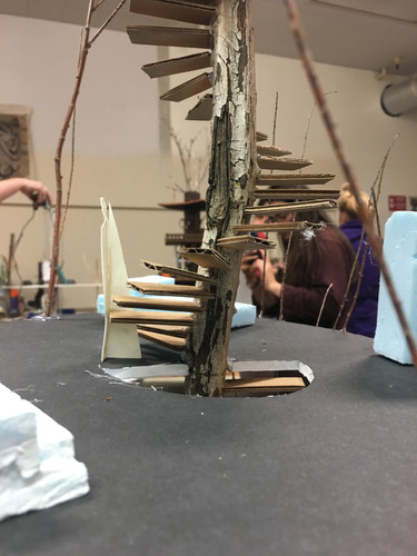 Treehouse model 2nd floor and spiral stairs