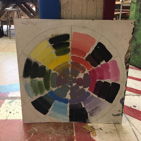 Color wheel sample