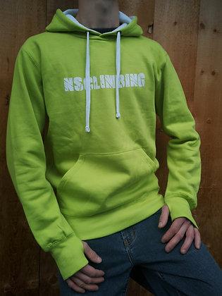 NSCLIMBING - Hoodie Lime/White - Man