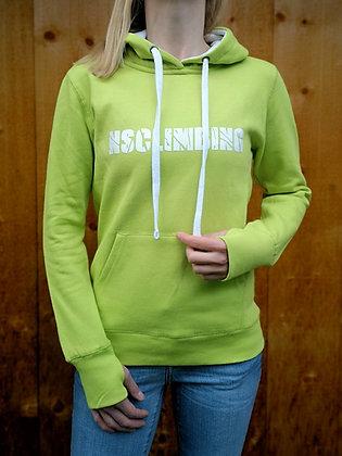 NSCLIMBING - Hoodie Lime/White - Woman