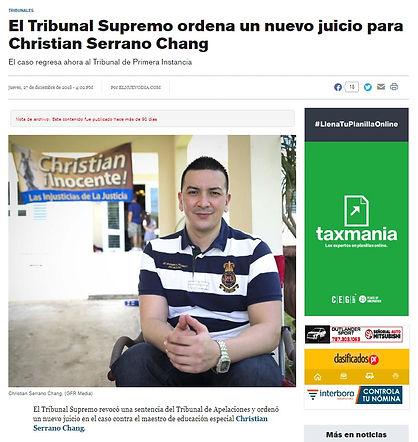 Serrano Chang - Supremo Ordena Nuevo Jui