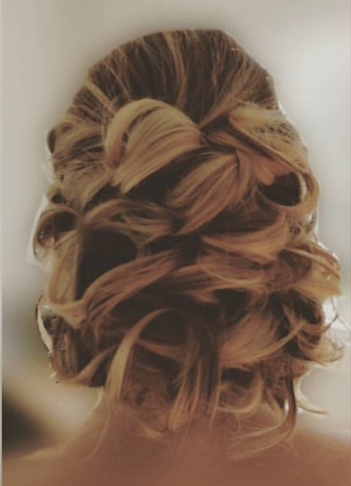 Bridal hair. Romantic curled 'updo'