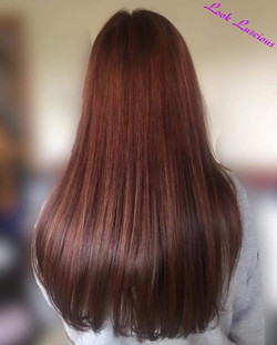 Rich chocolate brown hair colour