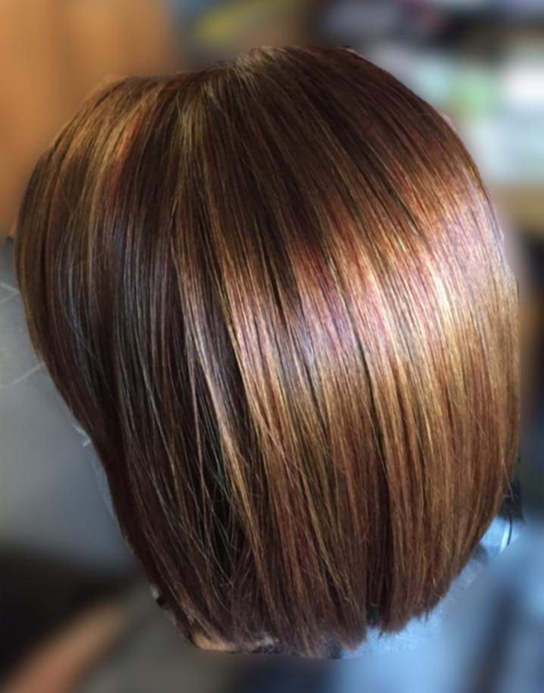 Rich brown multi tonal hair colour