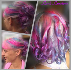 Unicorn hair colour