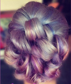 purple multi toned hair