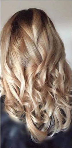 blonde hair with root shadow