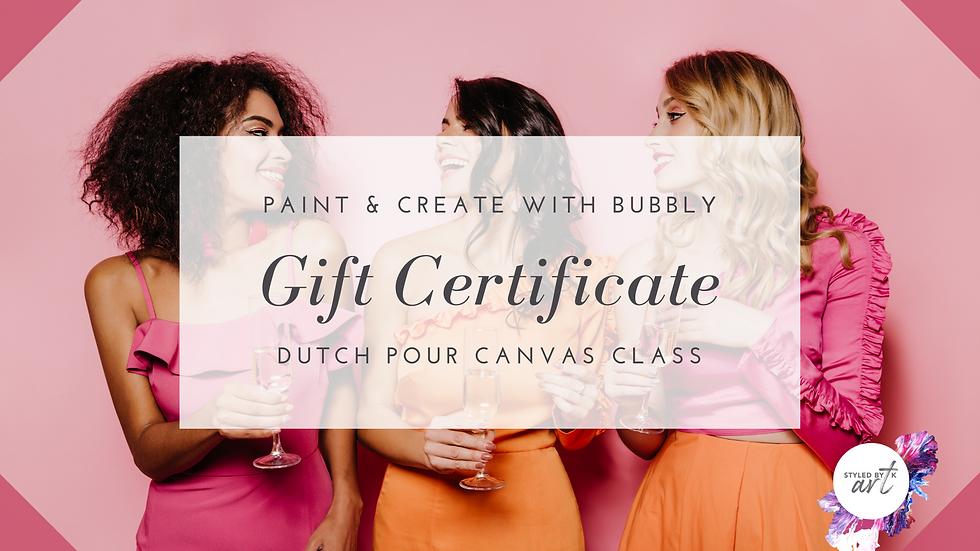 Gift Voucher - Dutch Pour Canvas Class