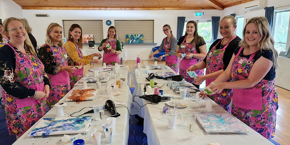 Paint & Create with Bubbly - Abstract Canvas Class