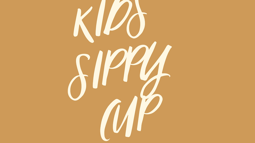 Kids sippy cup w/ logo (coming soon)