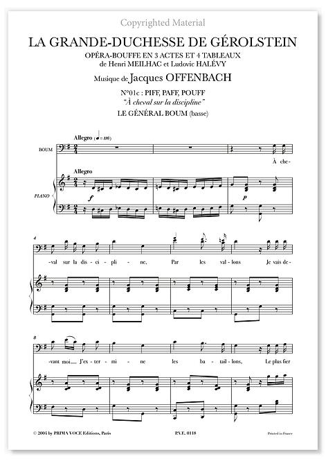 Offenbach GRANDE-DUCHESSE DE GÉROLSTEIN (LA) À cheval sur la discipline (basse)